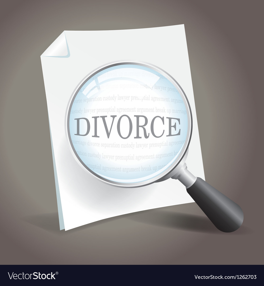 Looking at divorce vector | Price: 1 Credit (USD $1)