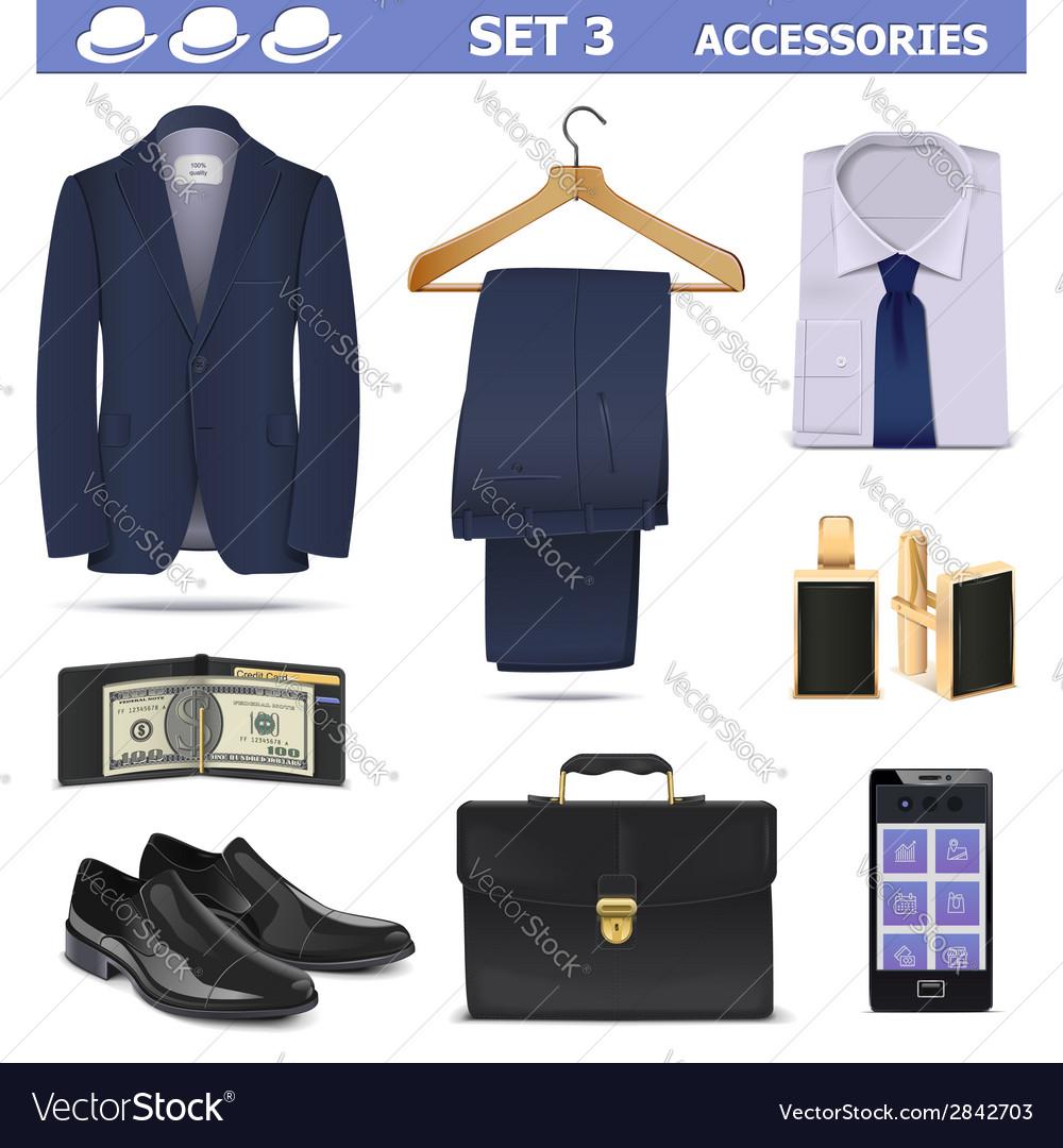Male accessories set 3 vector   Price: 3 Credit (USD $3)