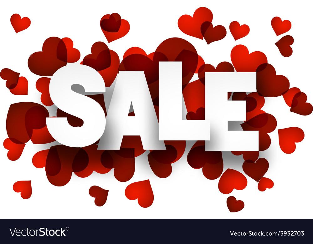 Paper sale love sign vector   Price: 1 Credit (USD $1)