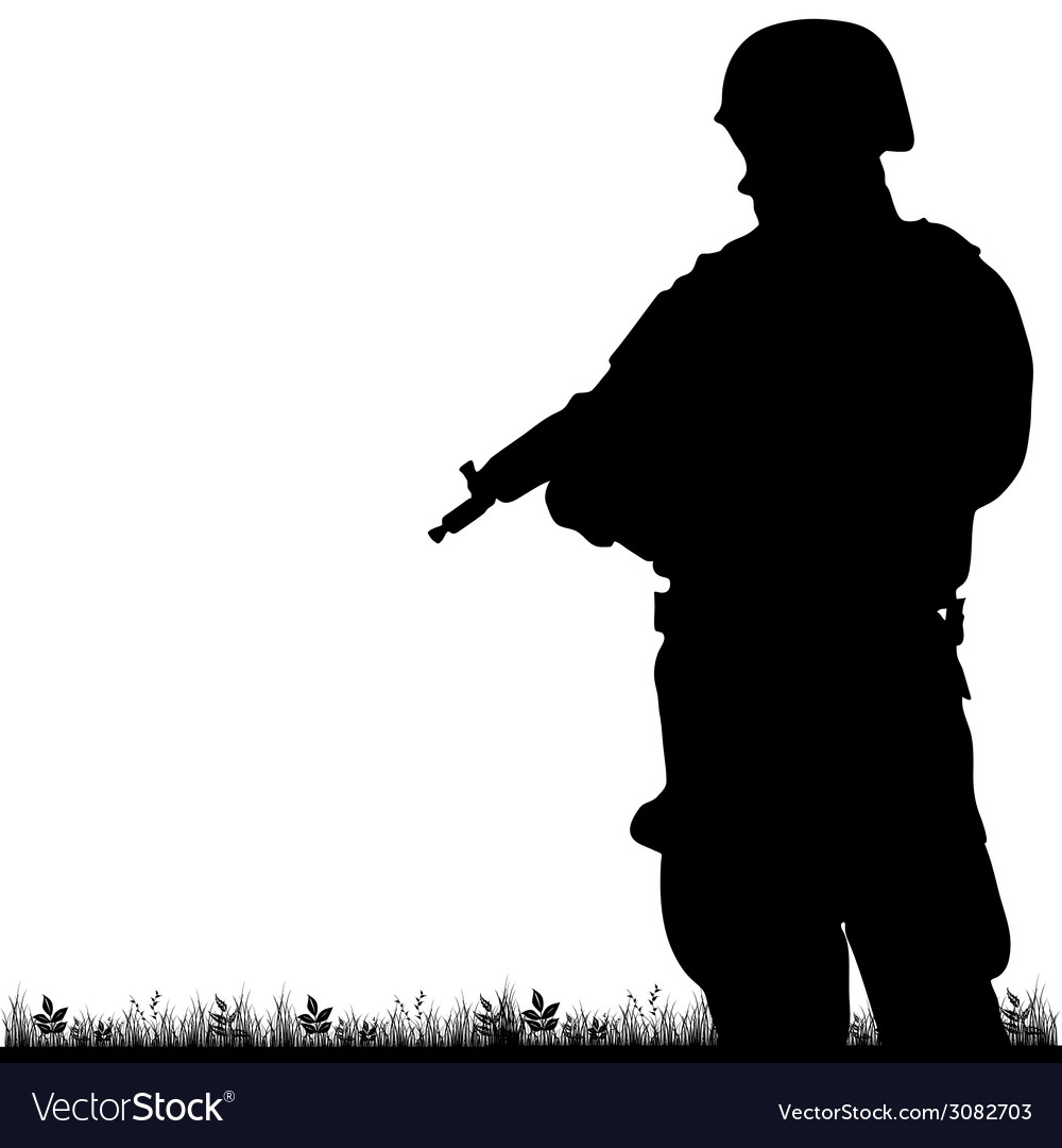 Soldier in the nature vector | Price: 1 Credit (USD $1)