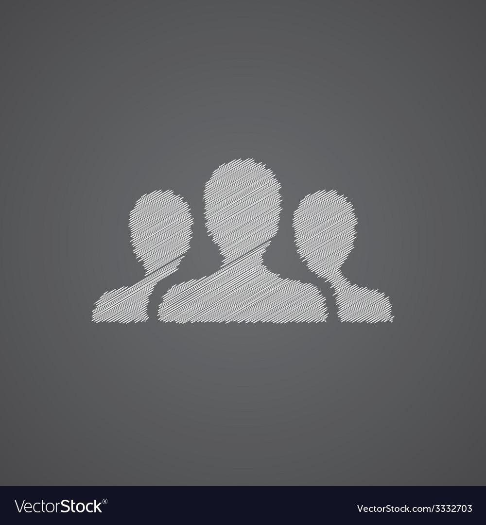 Team sketch logo doodle icon vector   Price: 1 Credit (USD $1)