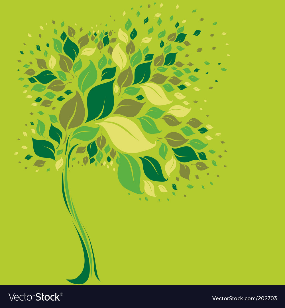 Tree symbol from colorful leafs vector | Price: 1 Credit (USD $1)