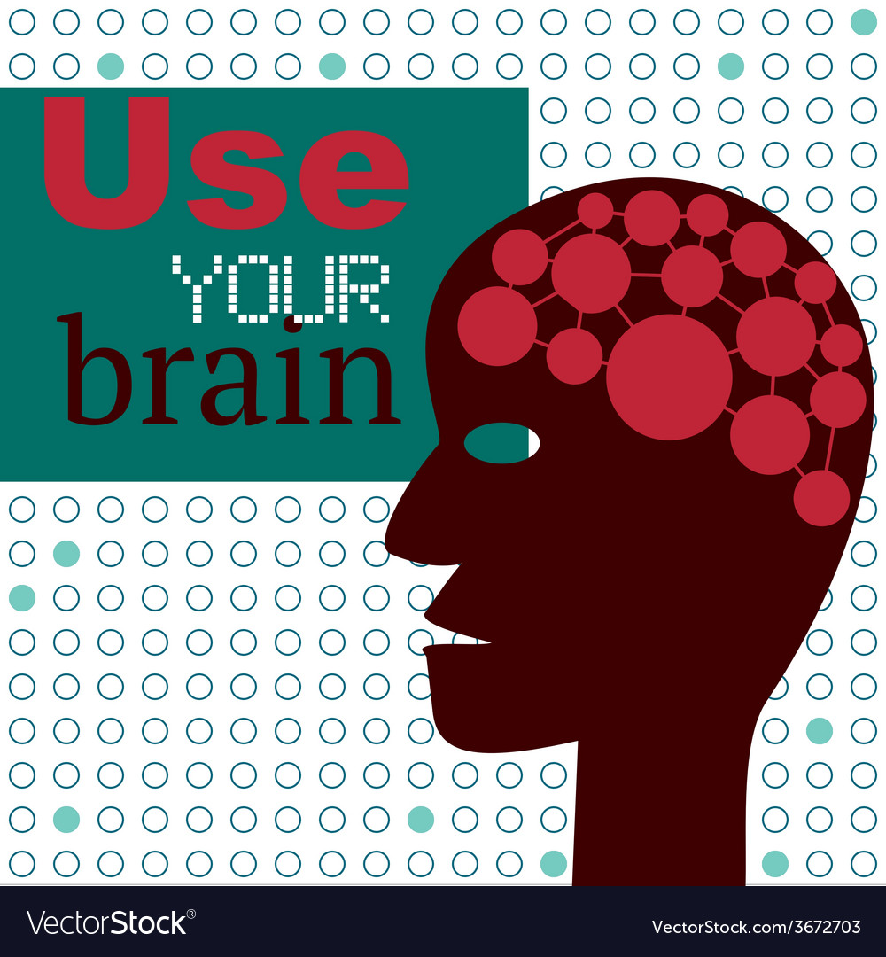 Use your brain concept with abstract head vector | Price: 1 Credit (USD $1)