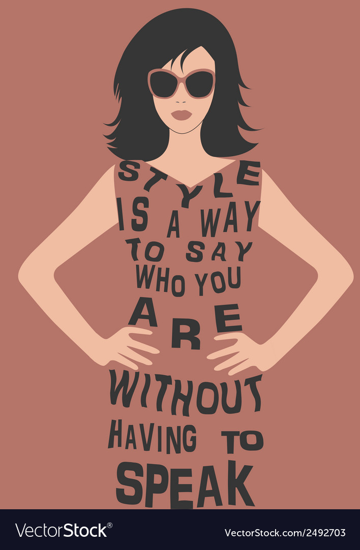 Woman in dress from quote vector | Price: 1 Credit (USD $1)