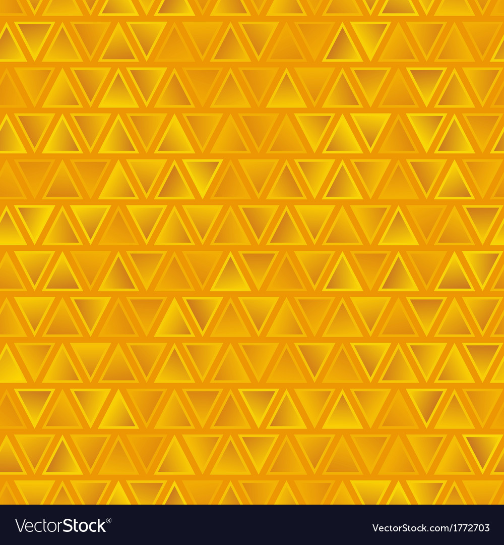 Yellow seamless abstract triangles background vector | Price: 1 Credit (USD $1)