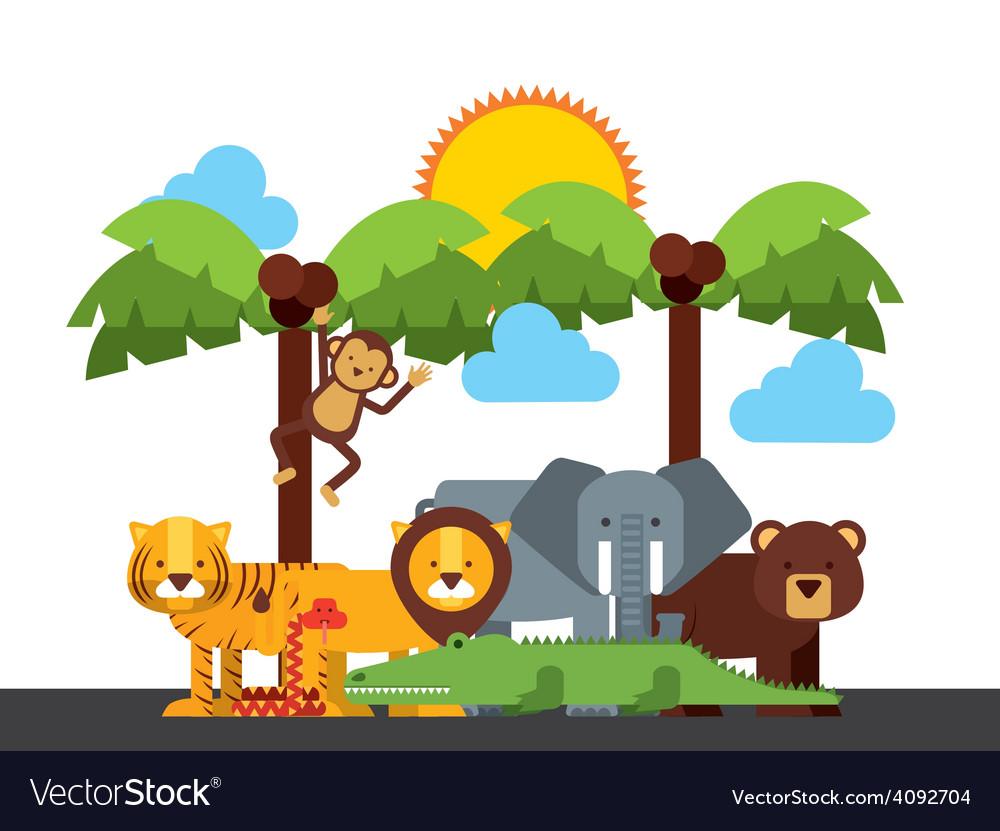 Animals cute vector | Price: 1 Credit (USD $1)