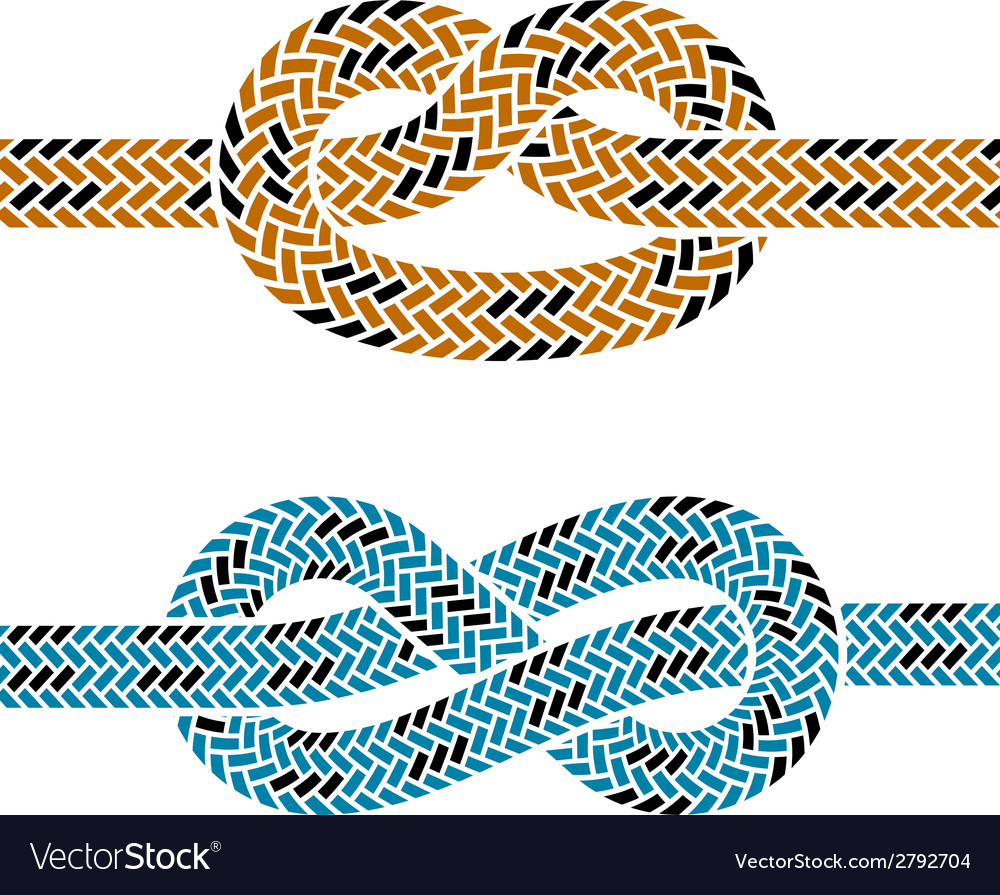 Climbing rope knot symbols vector | Price: 1 Credit (USD $1)