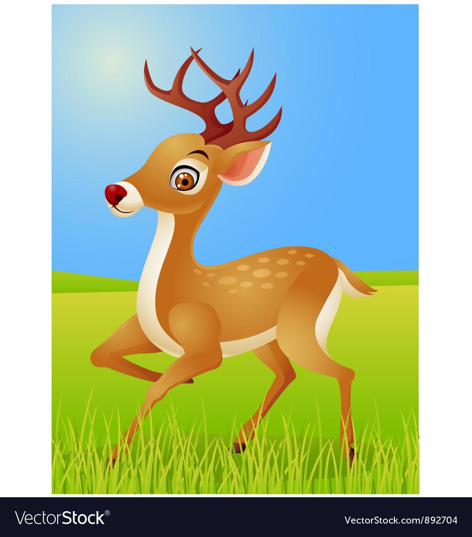 Deer cartoon vector   Price: 1 Credit (USD $1)