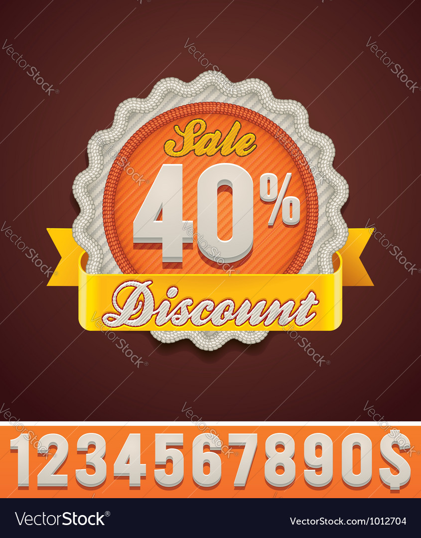 Discount badge vector | Price: 3 Credit (USD $3)