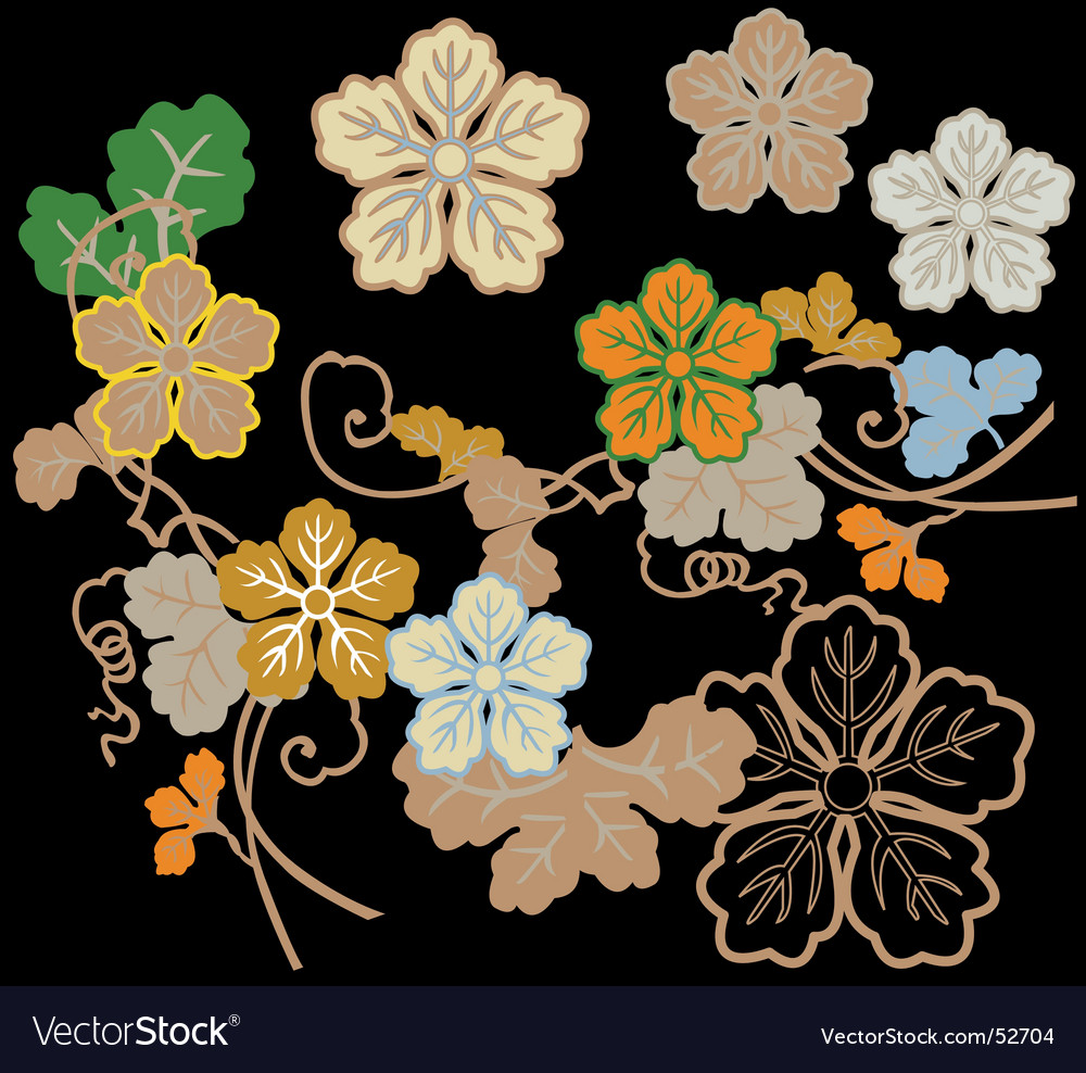 Floral assortments vector | Price: 1 Credit (USD $1)