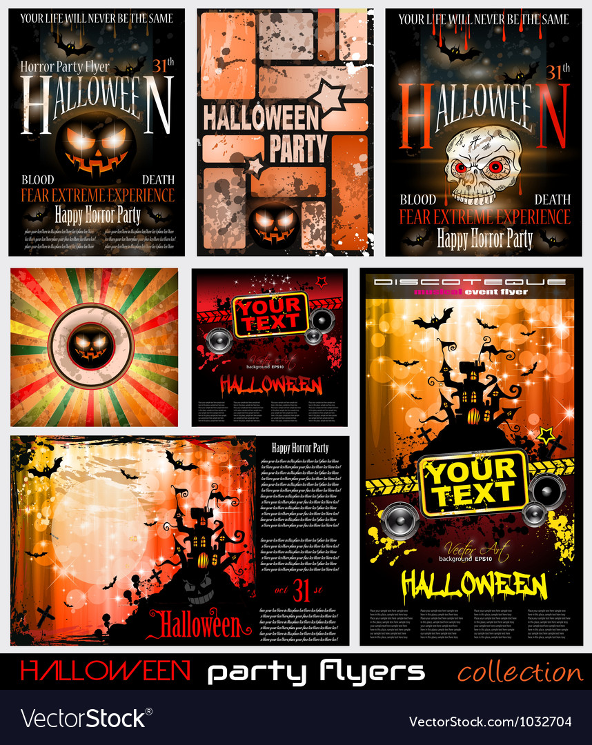 Halloween poster background vector | Price: 1 Credit (USD $1)