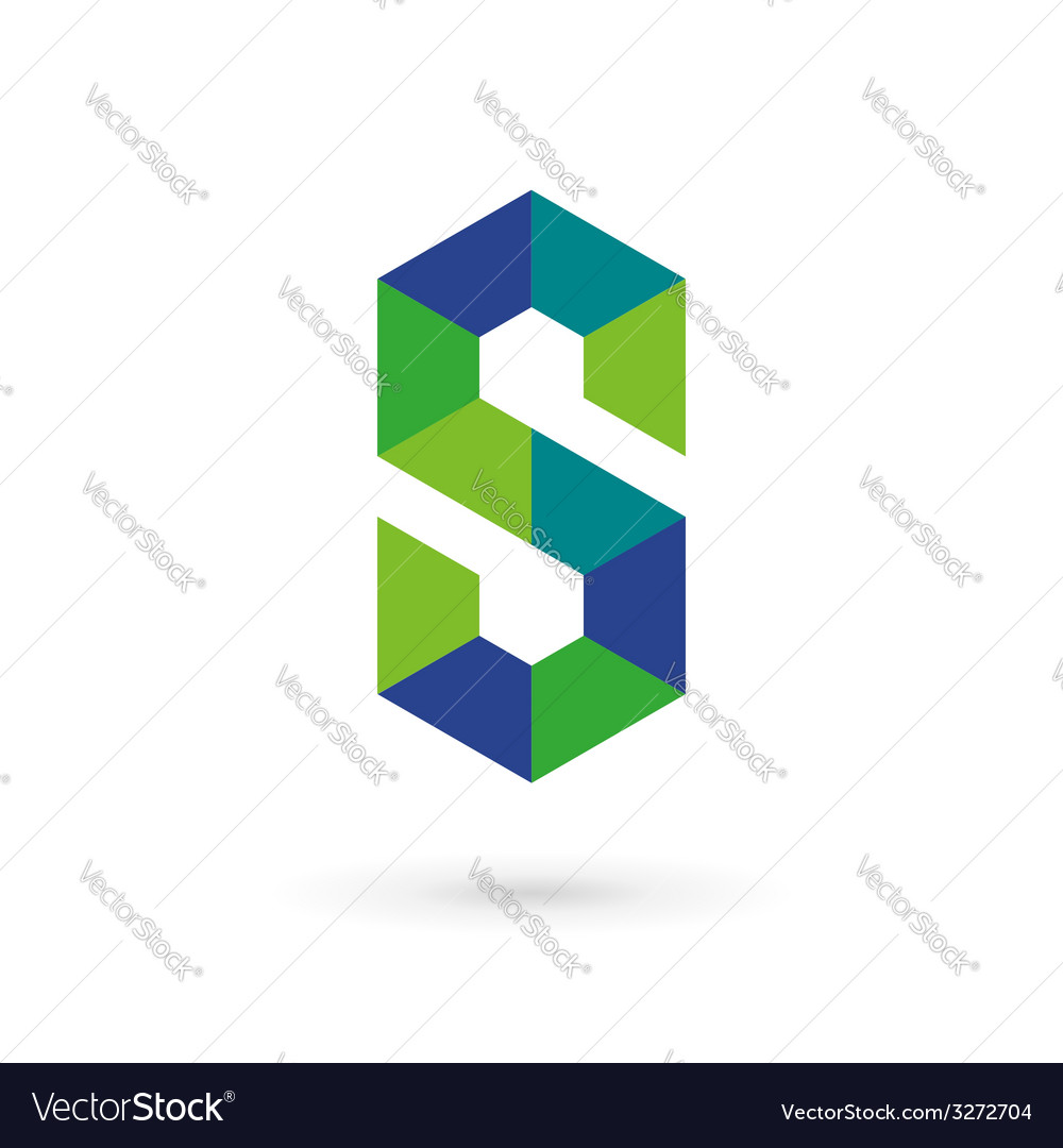 Letter s mosaic logo icon design template elements vector | Price: 1 Credit (USD $1)