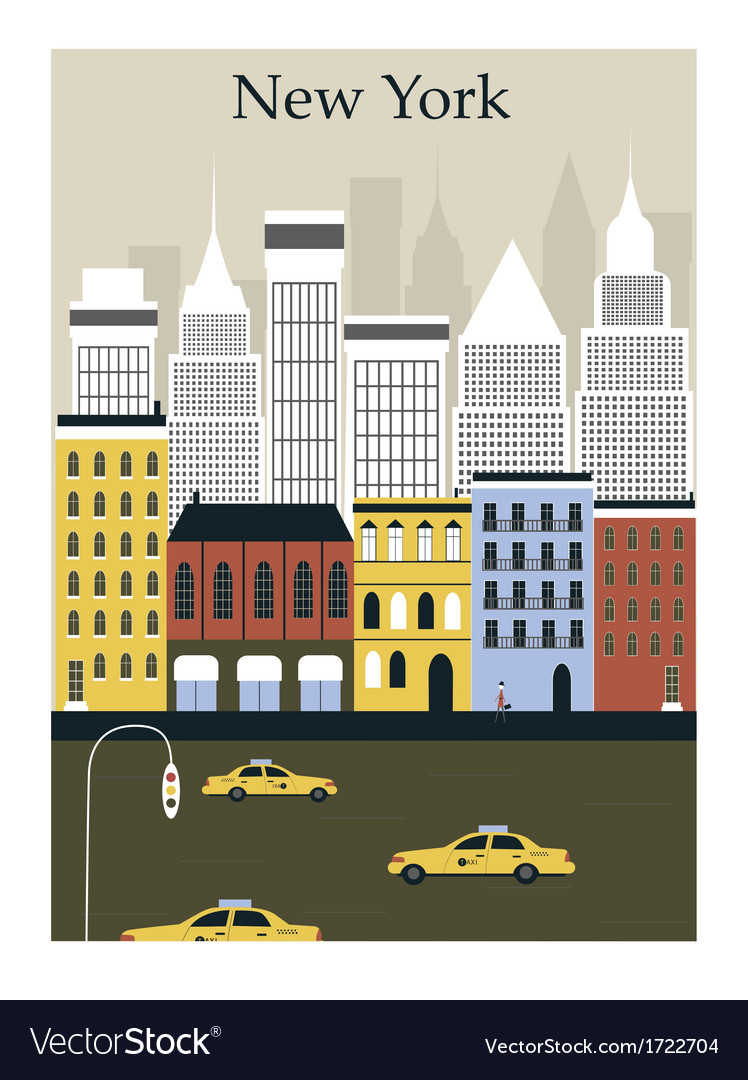 New york city vector | Price: 1 Credit (USD $1)
