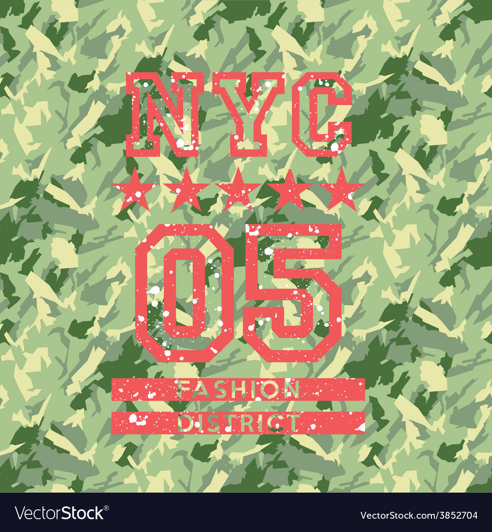 Nyc fashion army style vector | Price: 3 Credit (USD $3)