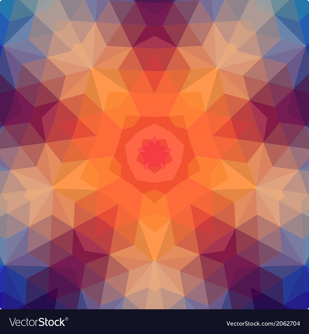 Retro star backdrop of geometric shapes colorful vector | Price: 1 Credit (USD $1)