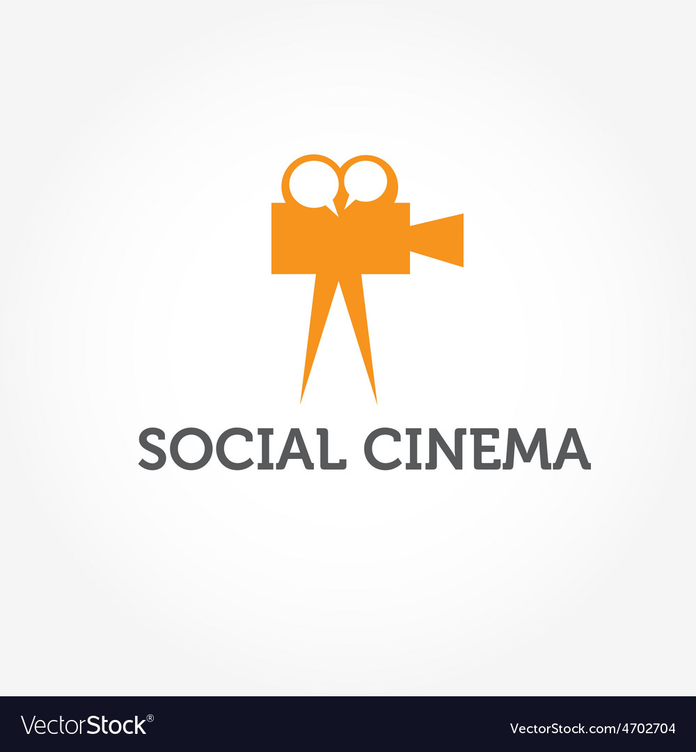 Social cinema vector | Price: 1 Credit (USD $1)