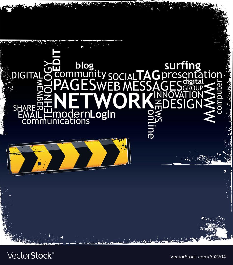 Social media background vector | Price: 1 Credit (USD $1)