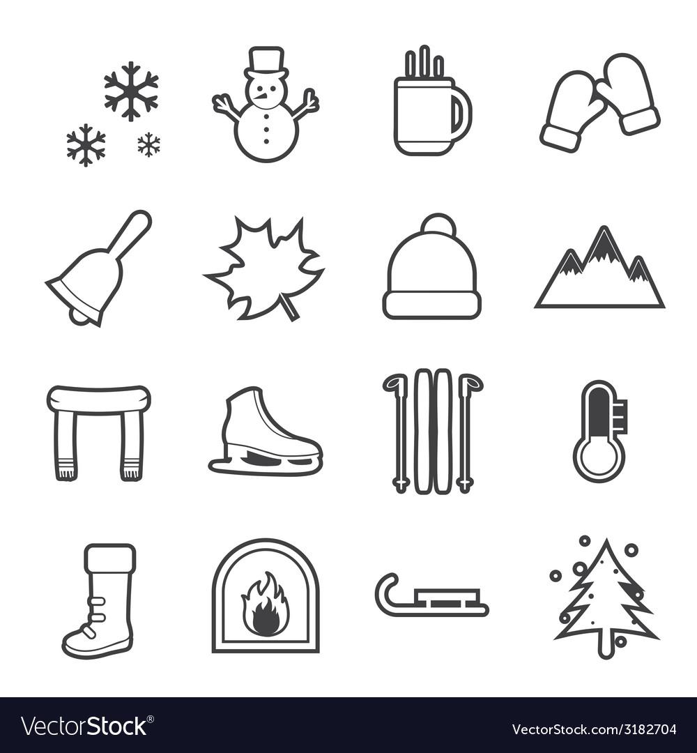 Winter icon vector | Price: 1 Credit (USD $1)