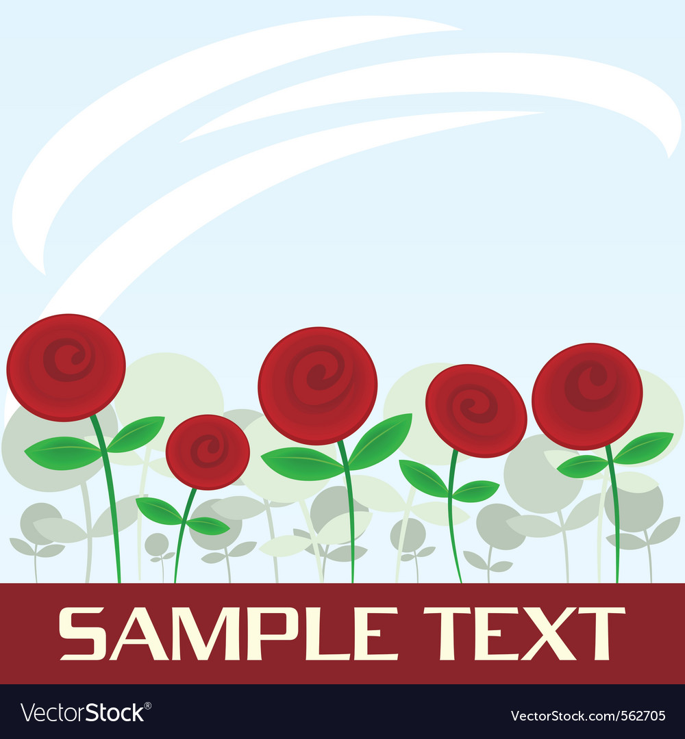 Abstract red flowers vector | Price: 1 Credit (USD $1)
