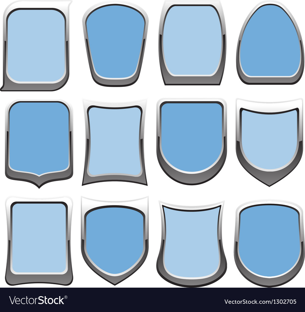 Badges blue vector | Price: 1 Credit (USD $1)