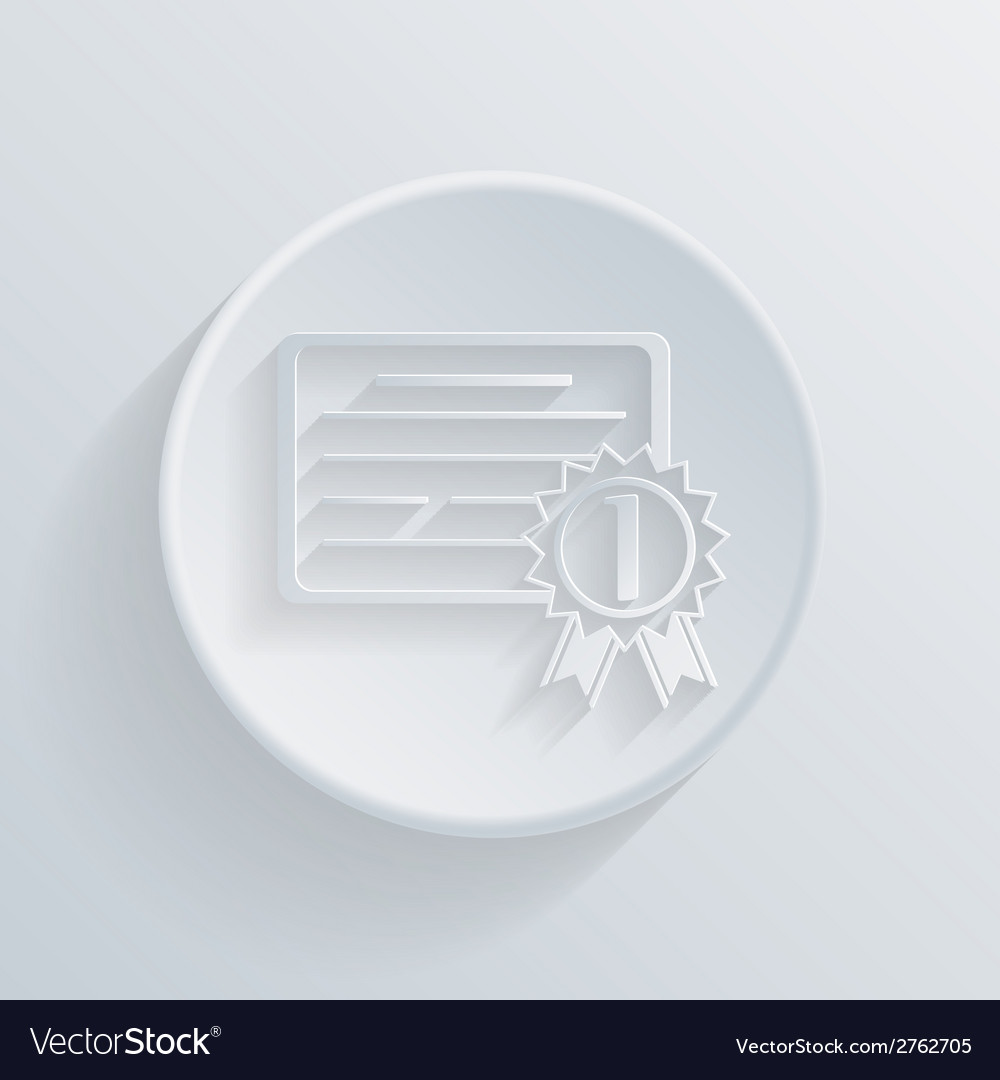 Circle icon diploma for the first place vector | Price: 1 Credit (USD $1)