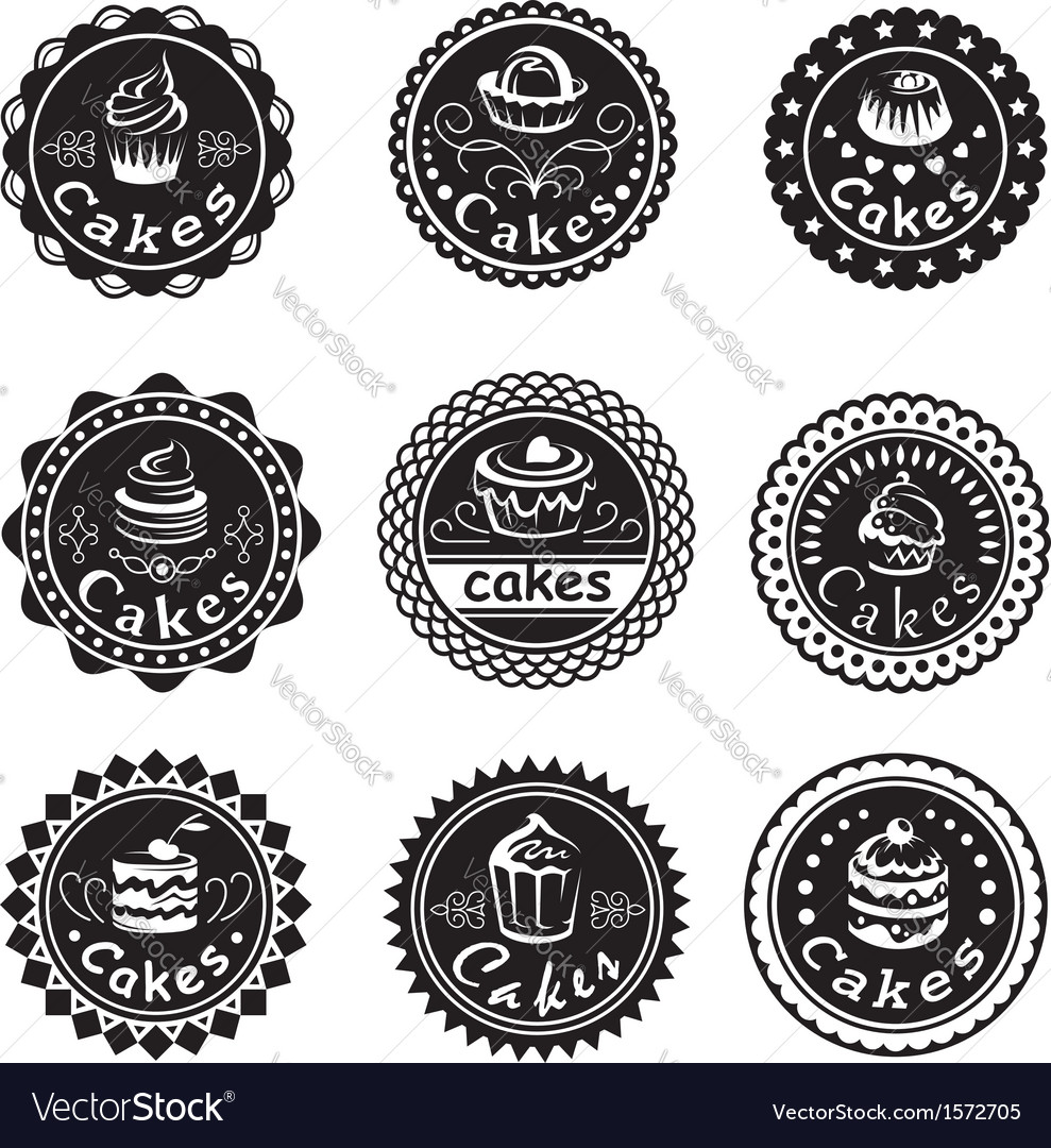 Collection of various cupcakes labels vector   Price: 1 Credit (USD $1)