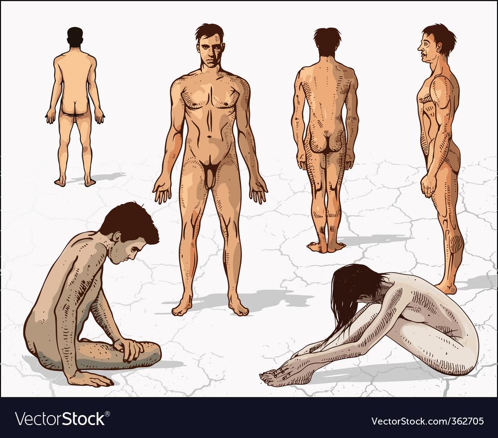 Human figures vector | Price: 3 Credit (USD $3)