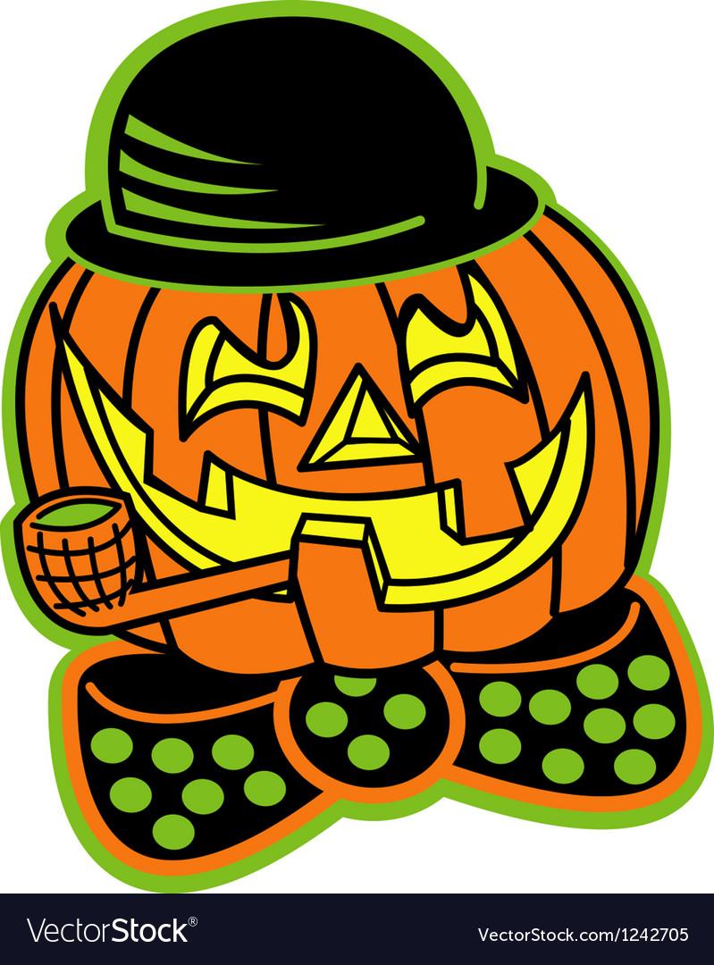 Pumpkin top hat vector | Price: 1 Credit (USD $1)