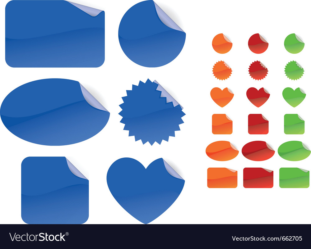 Six different forms and four different colors set vector | Price: 1 Credit (USD $1)