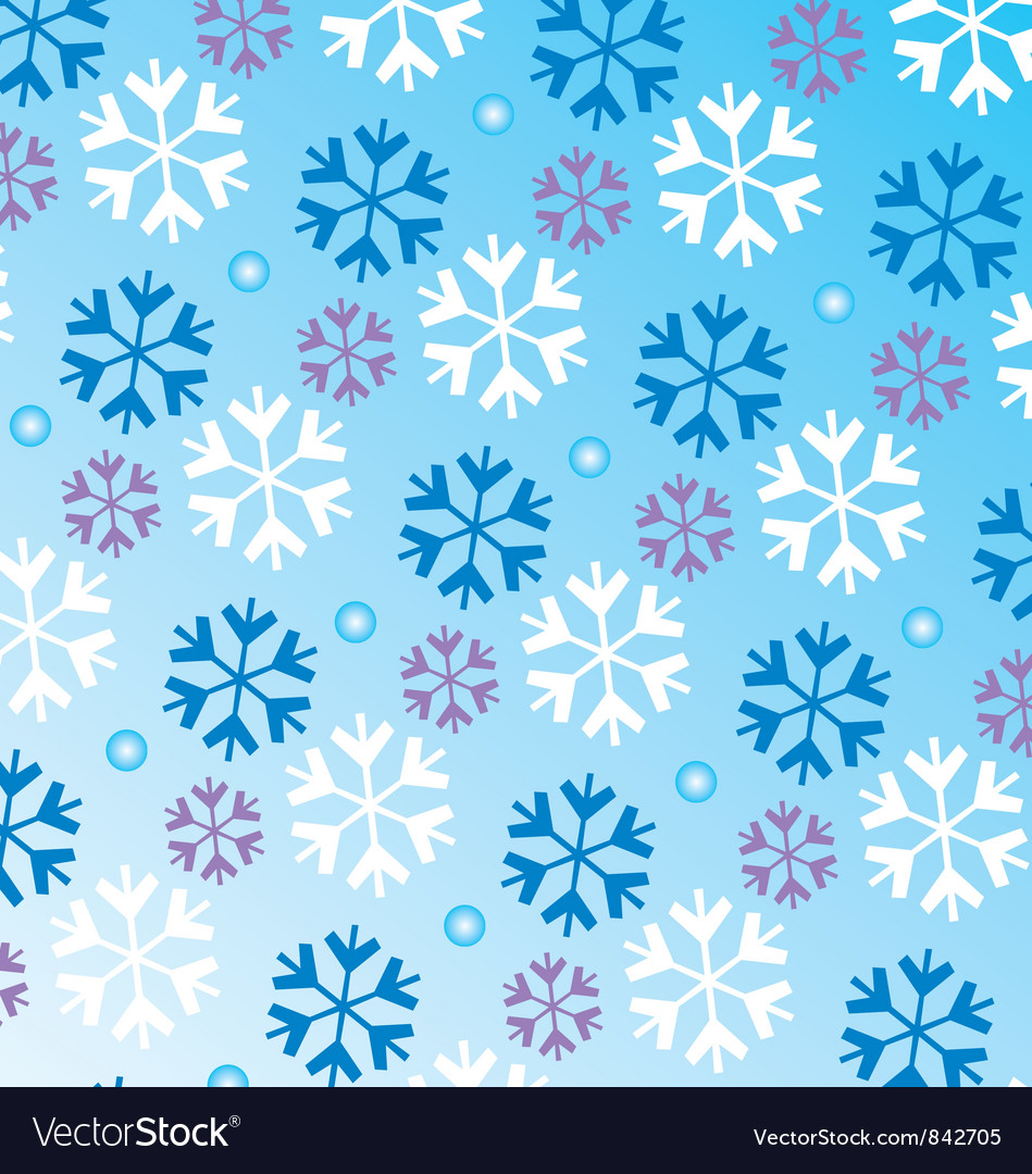 Snowflake pattern vector | Price: 1 Credit (USD $1)