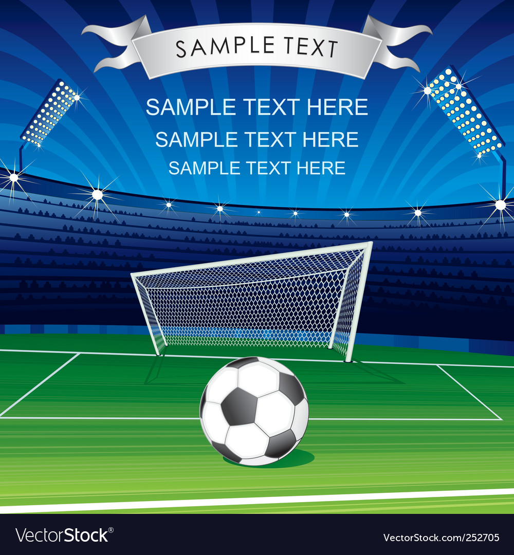 Soccer poster vector | Price: 3 Credit (USD $3)