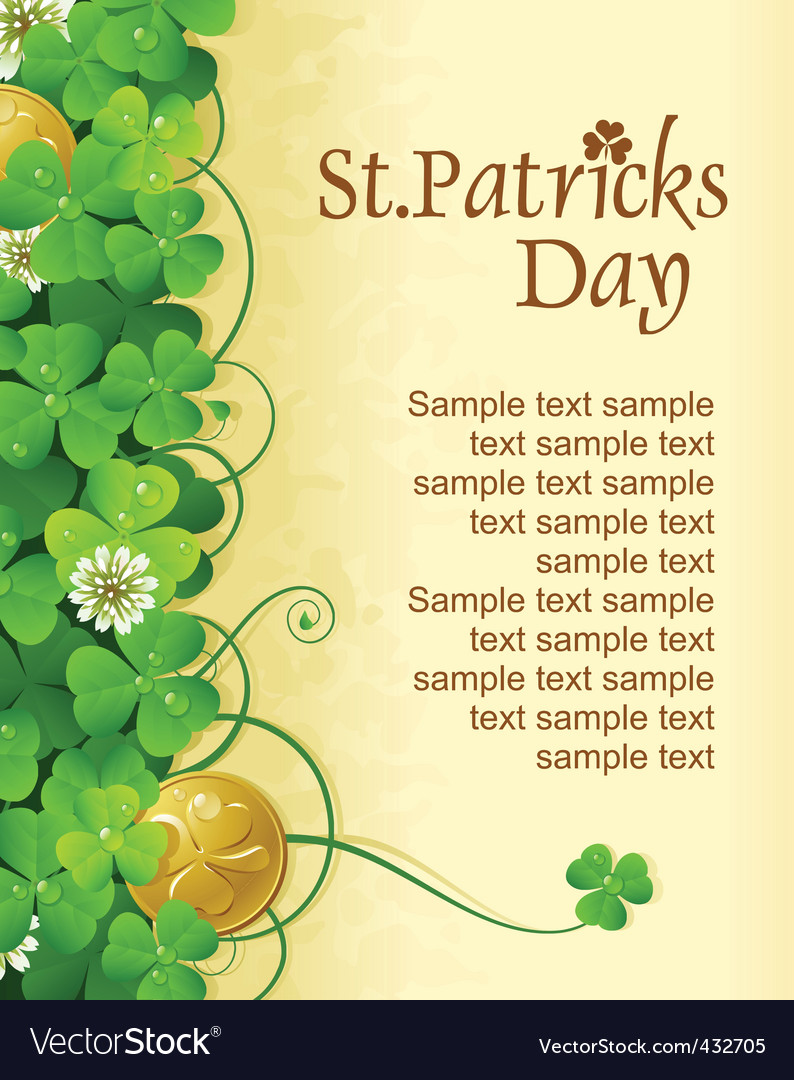 St patrick's vector | Price: 3 Credit (USD $3)