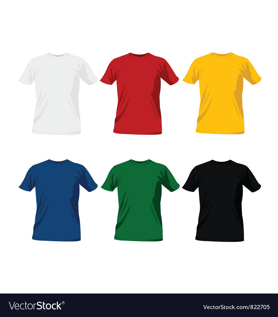 T-shirt templates vector | Price: 1 Credit (USD $1)