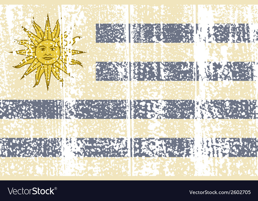 Uruguayan grunge flag vector | Price: 1 Credit (USD $1)