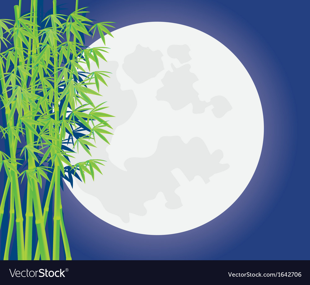 Bamboo moon vector | Price: 1 Credit (USD $1)