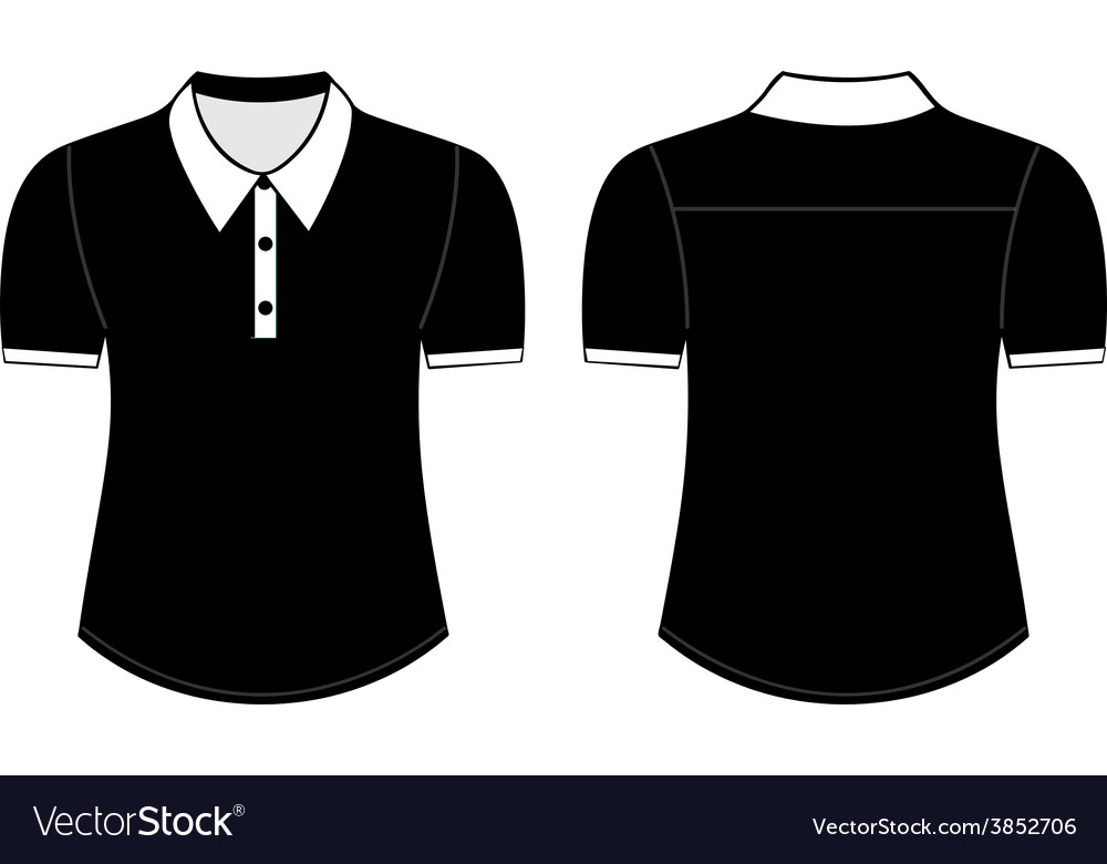 Blank shirt with shot sleeves template vector | Price: 1 Credit (USD $1)