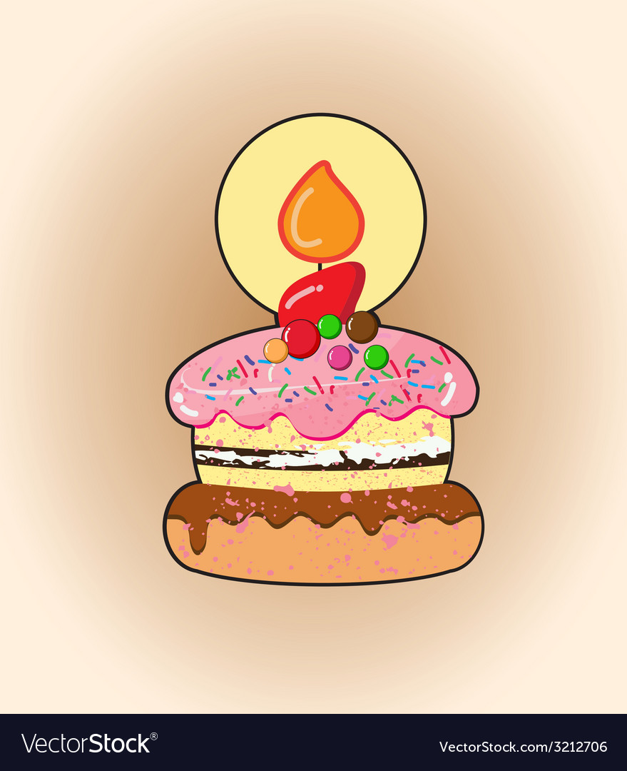 Cartoon cake vector | Price: 1 Credit (USD $1)