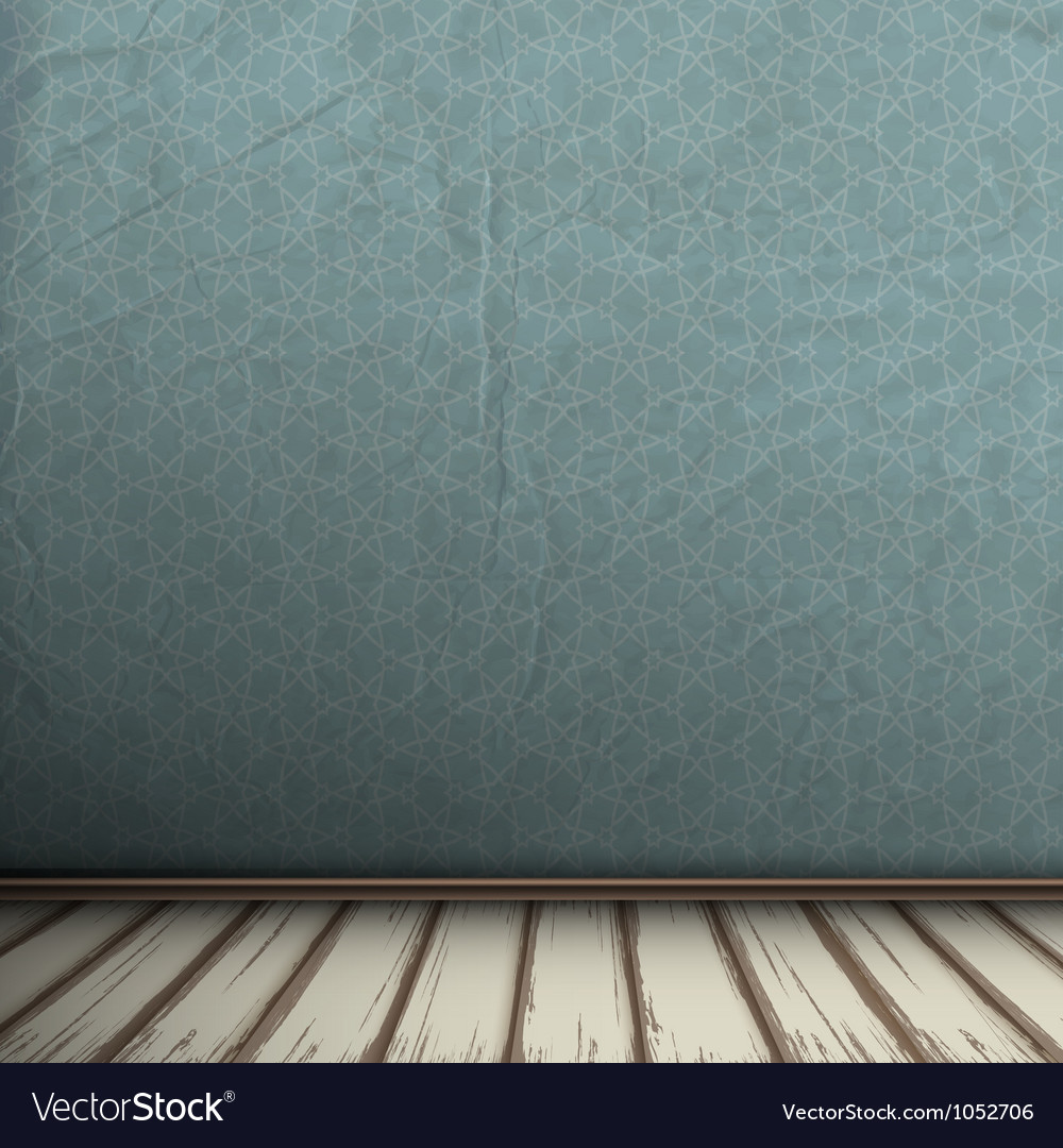 Empty grey interior of vintage room vector | Price: 1 Credit (USD $1)