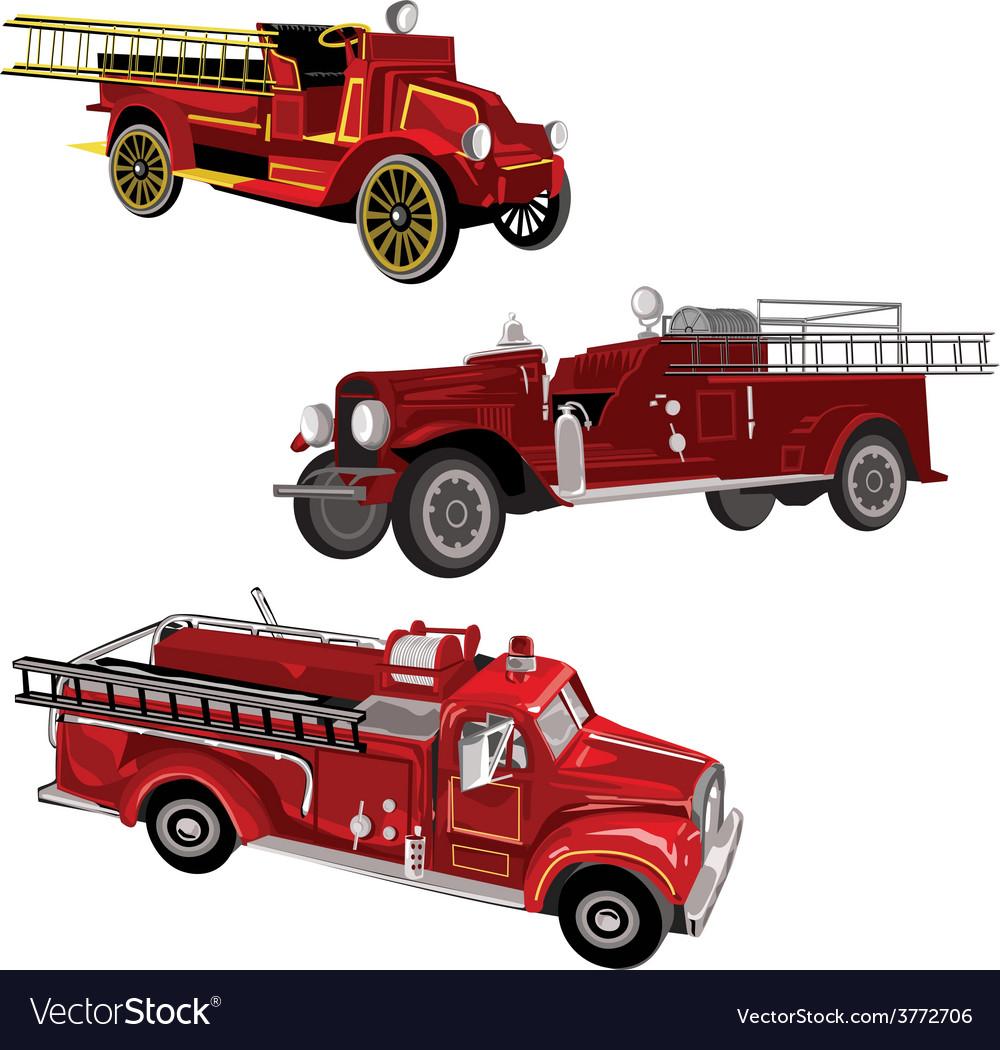 Firetrucks vector | Price: 3 Credit (USD $3)