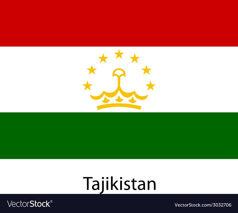 Flag of the country tajikistan vector | Price: 1 Credit (USD $1)