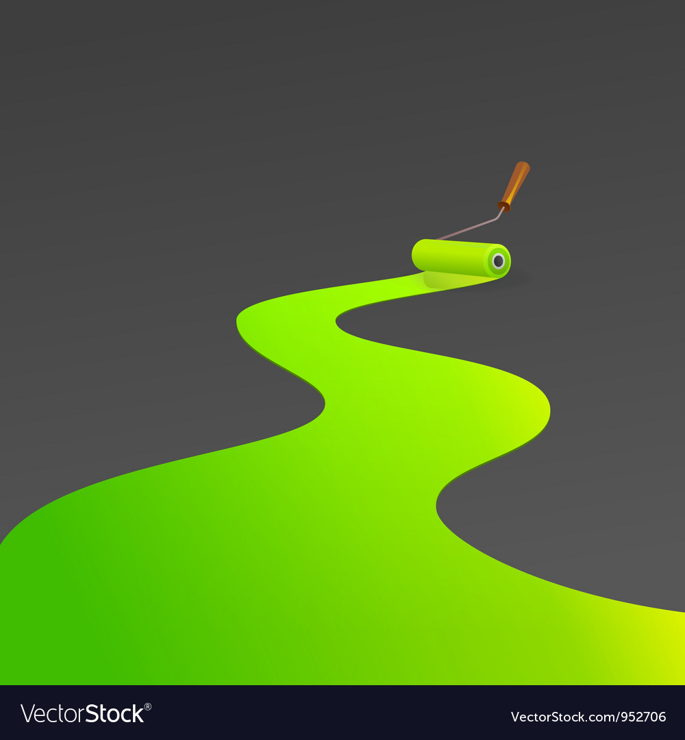 Green painting roller vector | Price: 1 Credit (USD $1)