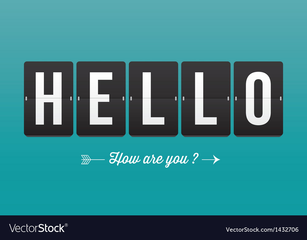 Hello mechanical panel letters vector | Price: 1 Credit (USD $1)