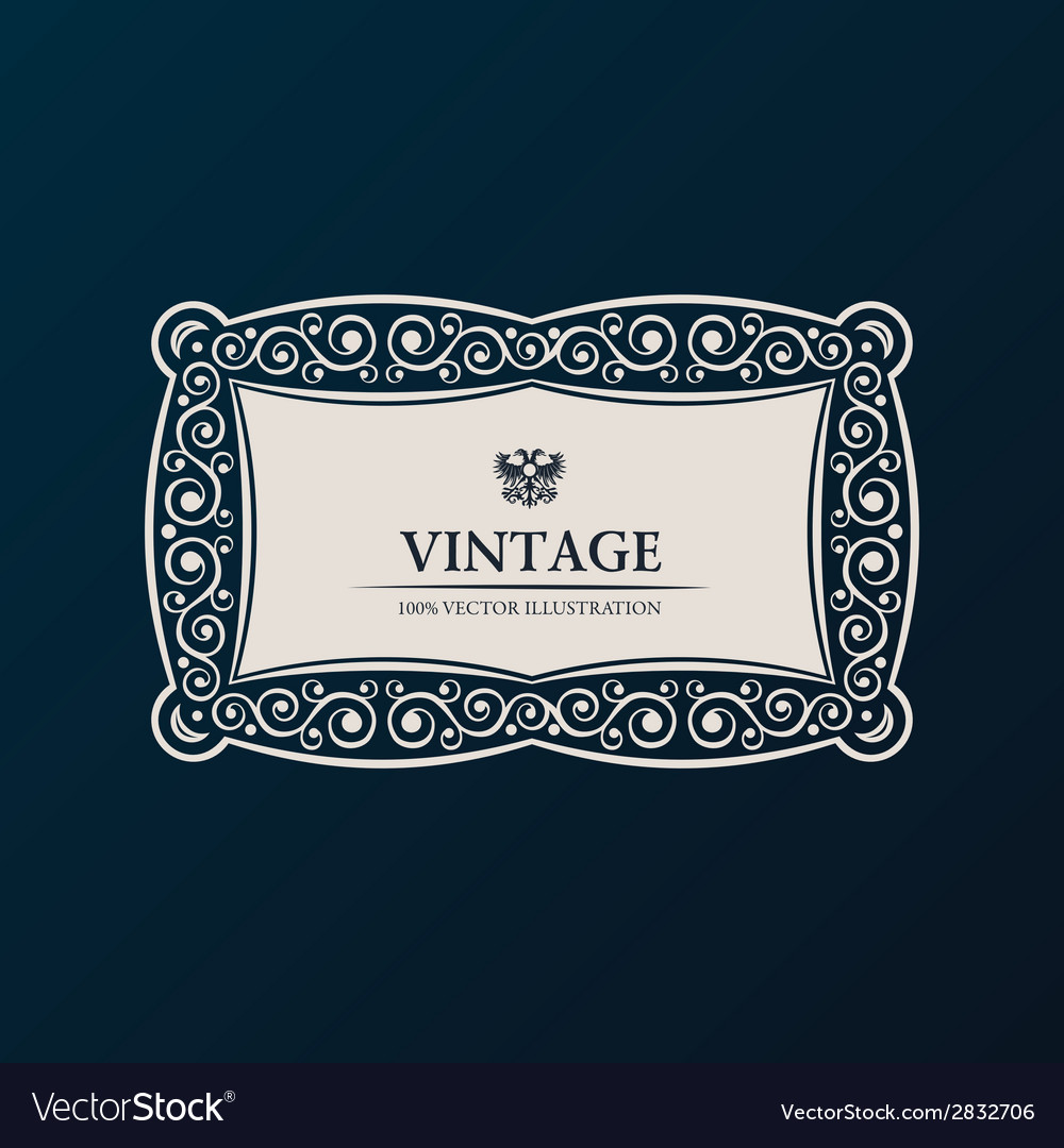 Label frame vintage banner decor vector | Price: 1 Credit (USD $1)