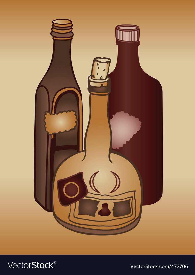 Old bottles vector | Price: 1 Credit (USD $1)