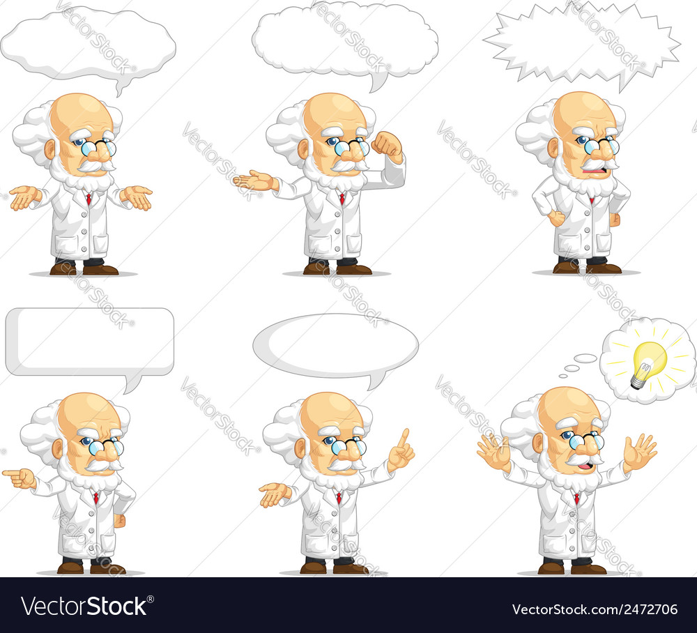 Scientist or professor customizable mascot 15 vector | Price: 1 Credit (USD $1)