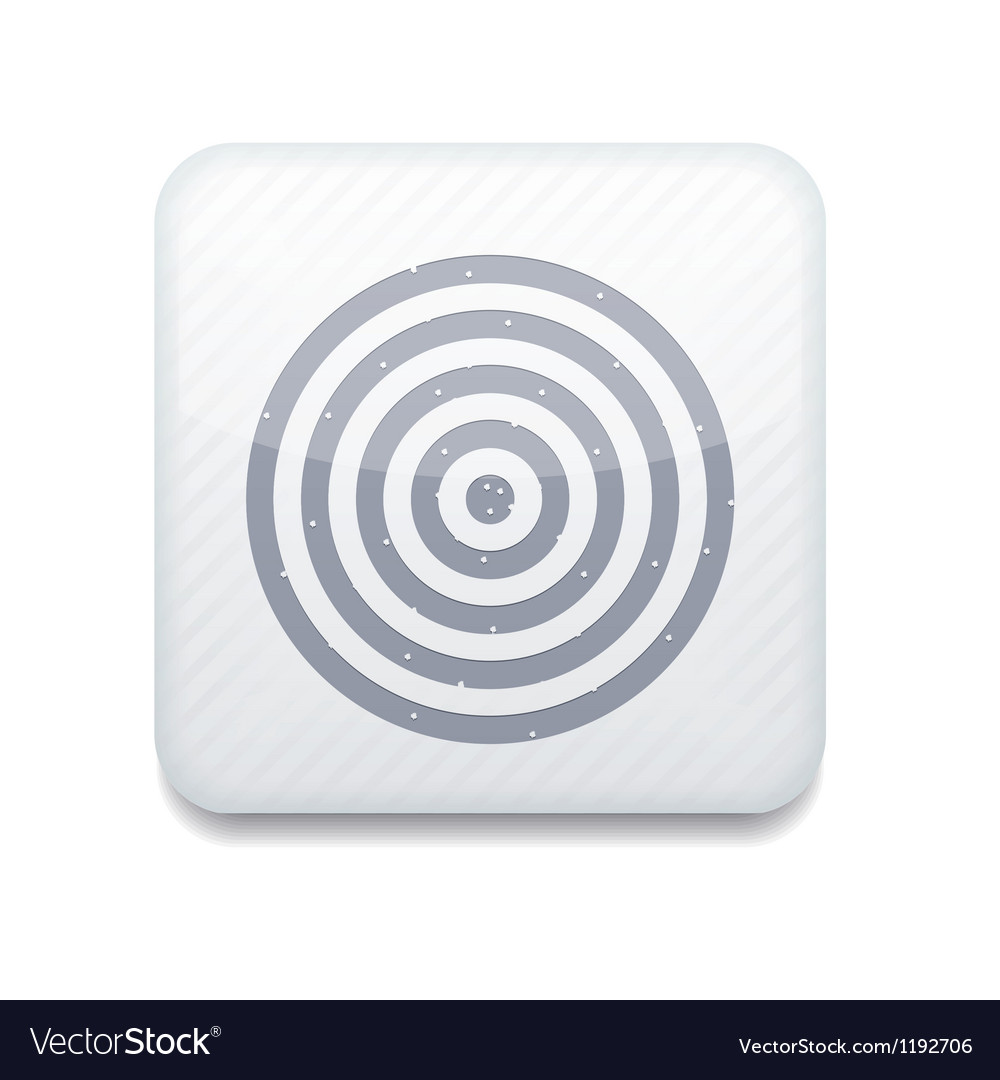White darts icon eps10 easy to edit vector | Price: 1 Credit (USD $1)