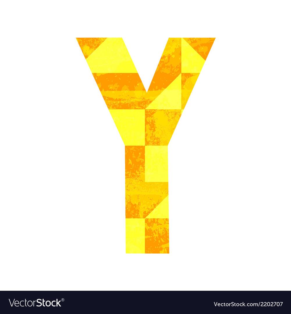 Abstract color alphabet y vector   Price: 1 Credit (USD $1)