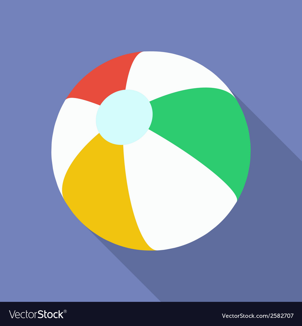 Beach ball icon modern flat style with a long vector | Price: 1 Credit (USD $1)