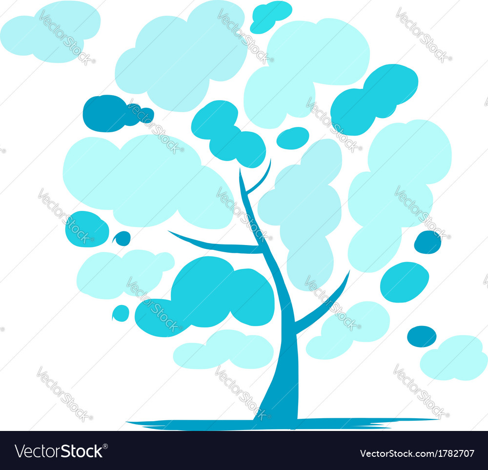 Cloudy tree for your design vector | Price: 1 Credit (USD $1)