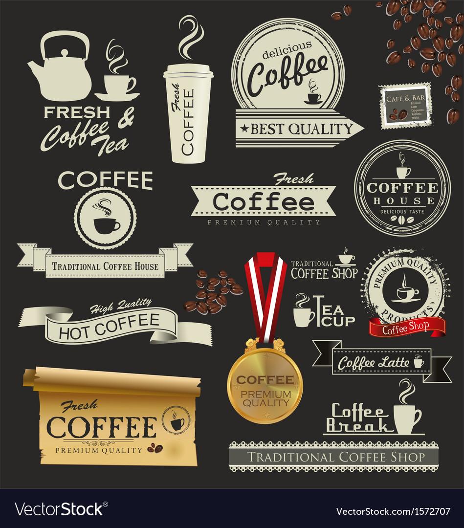 Coffee and tea design vector